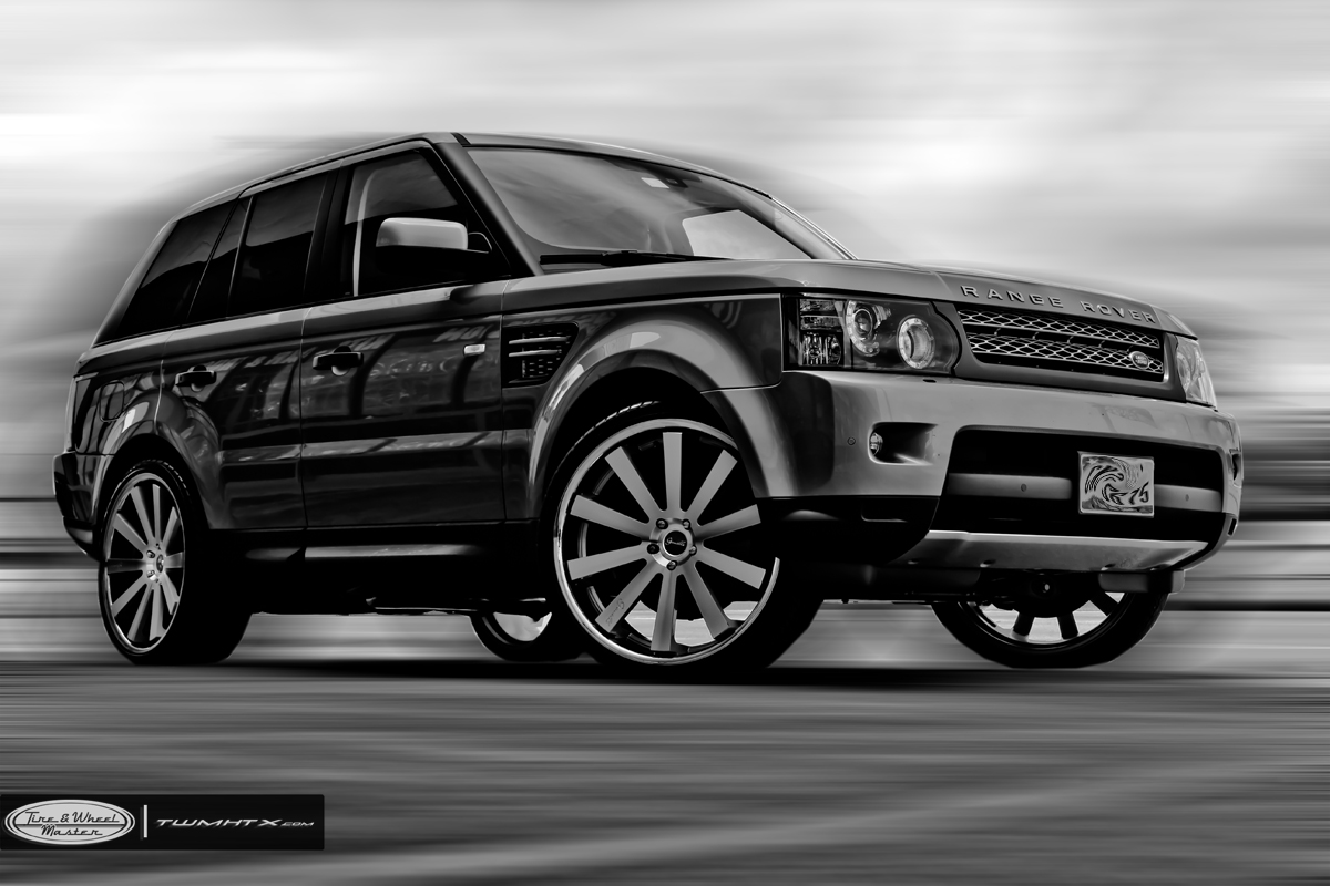 Gianelle Santo 2SS Machined Black On Land Rover Range Rover