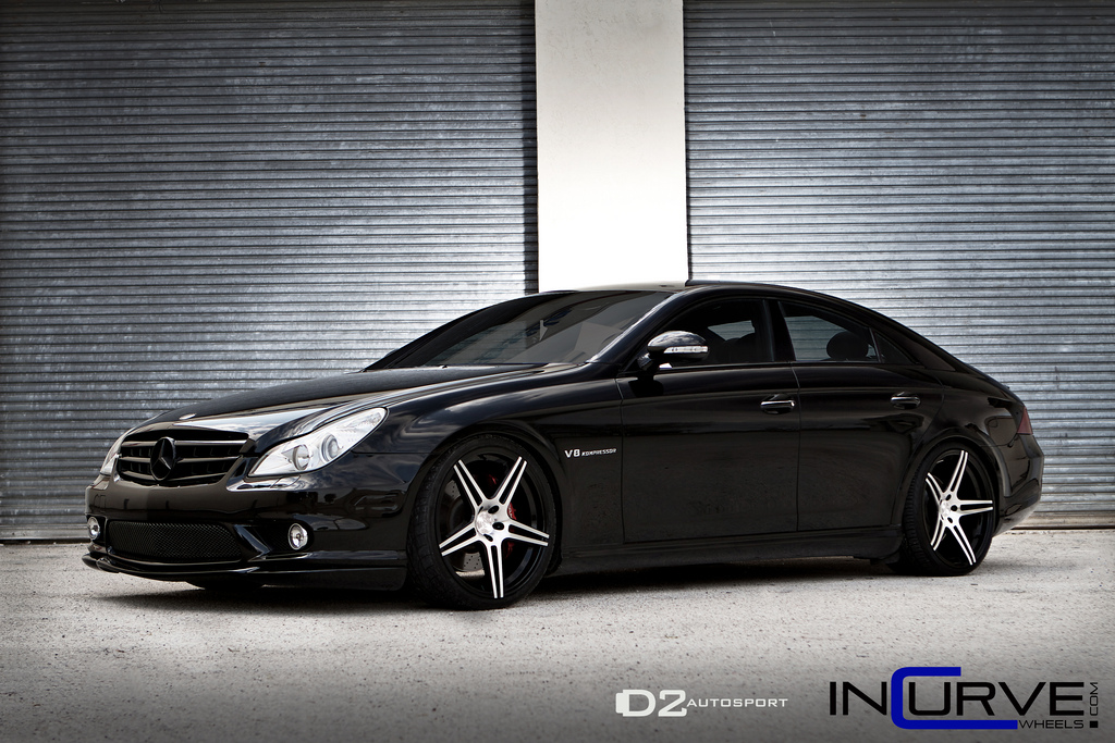 Incurve Wheels IC-S5 Machined Black on Black Mercedes Benz CLS