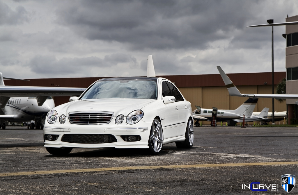 Incurve Wheels IC-S5 Silver On Mercedes Benz E55