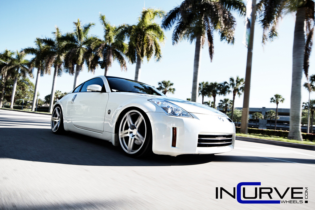 Incurve Wheels IC-S5 Silver on Nissan 350Z