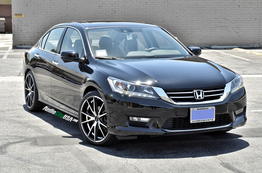 Gianelle Davalu Machined Black on 2014 Honda Accord