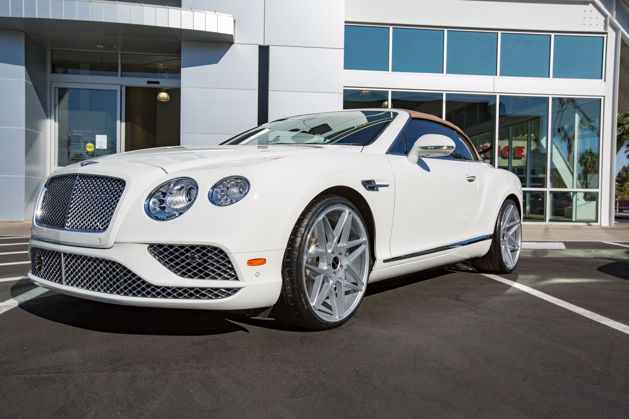 Gianelle Parma Silver on Bentley Continental