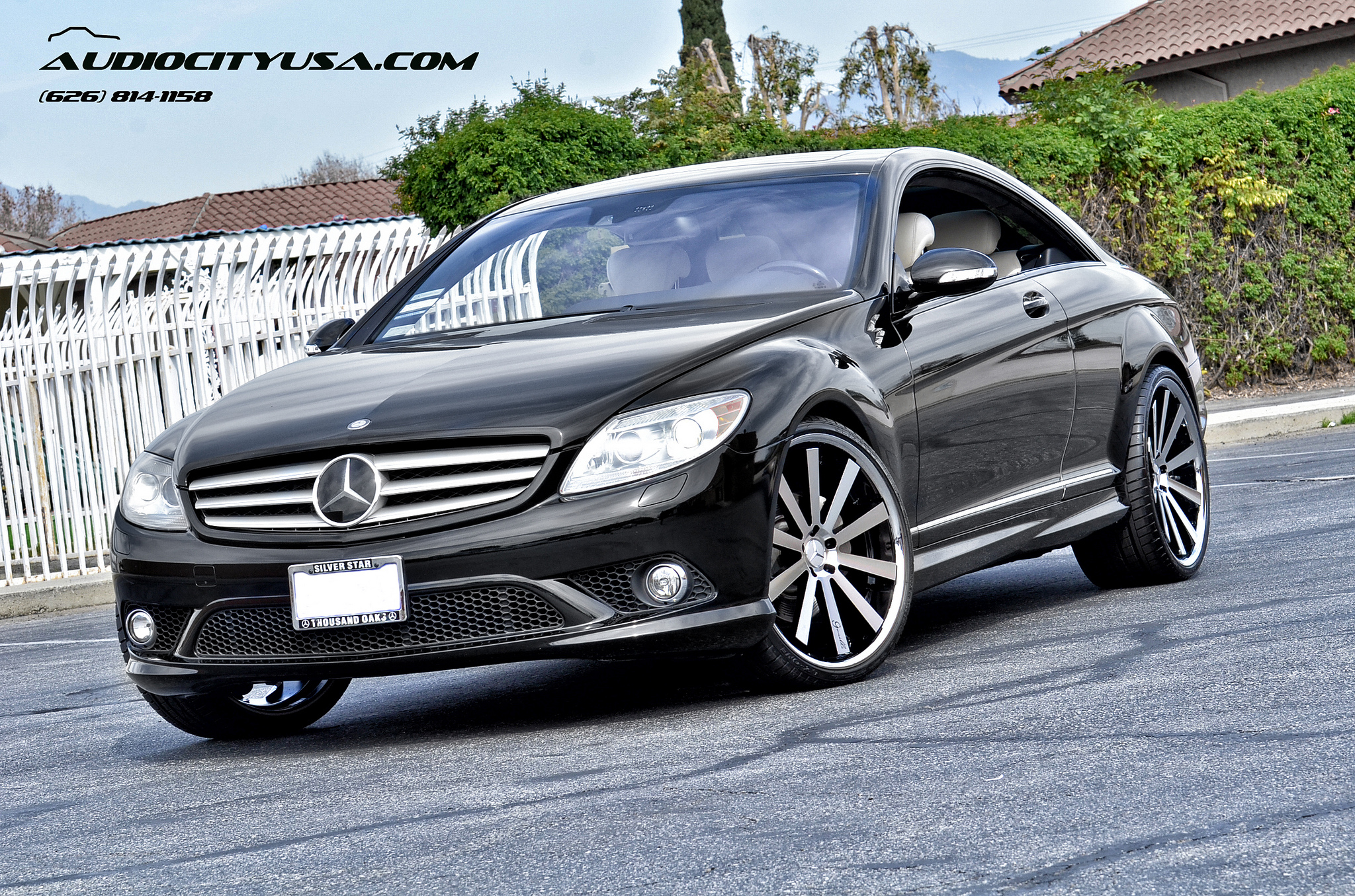 Gianelle Santo 2-SS 22'' Machined Black on 2008 Mercedes Benz CL 550