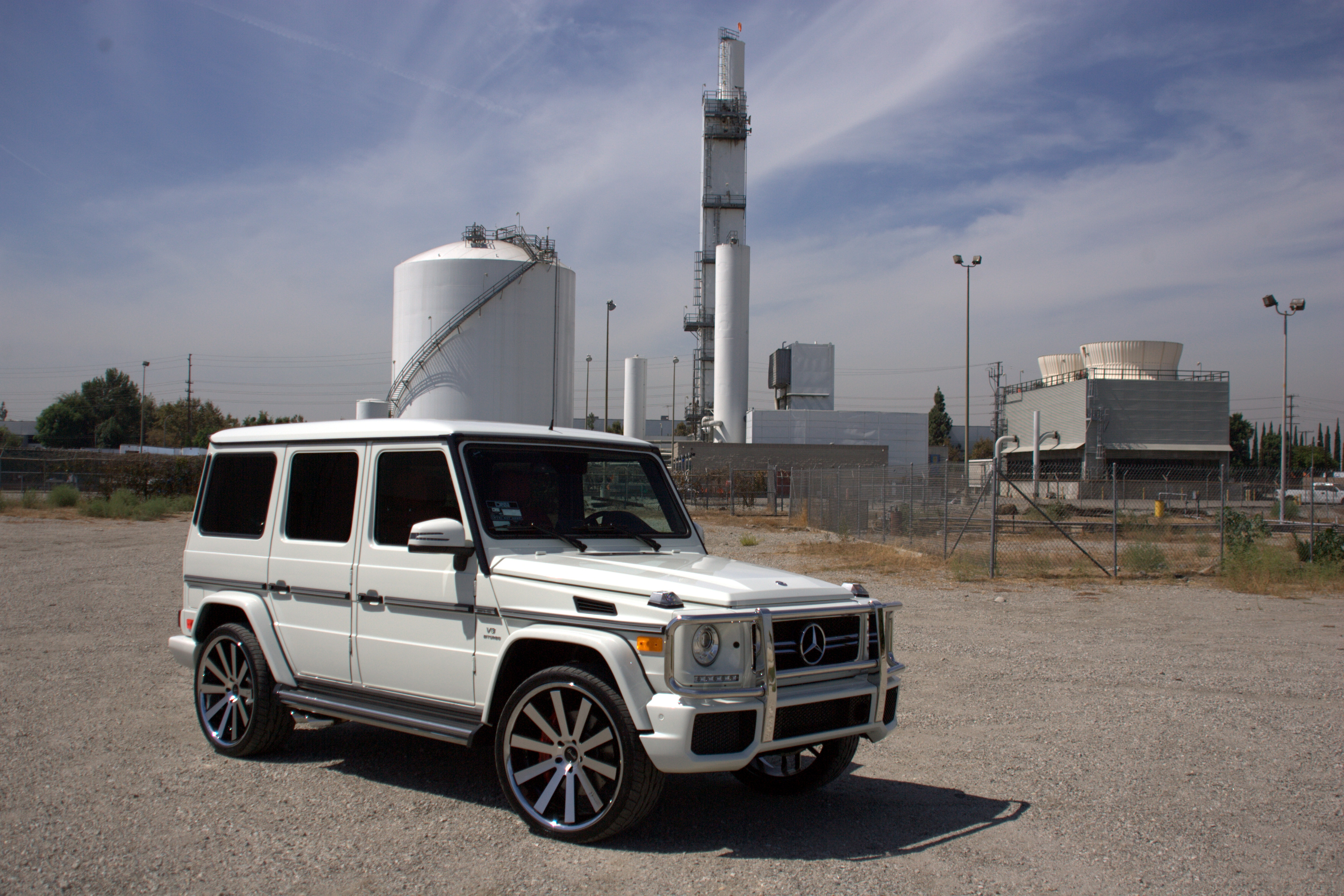 Gianelle Santo 2SS Machined Black on Mercedes Benz G class