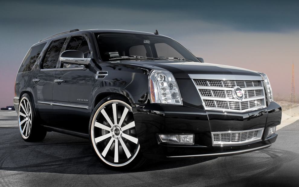 Gianelle Santo-2SS on Black Cadillac Escalade