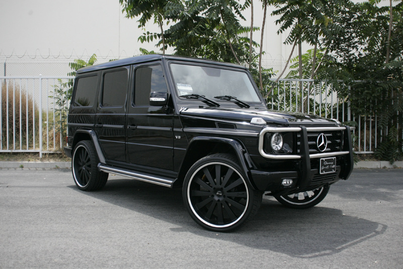 Gianelle Santorini Matte Black on Mercedes G550