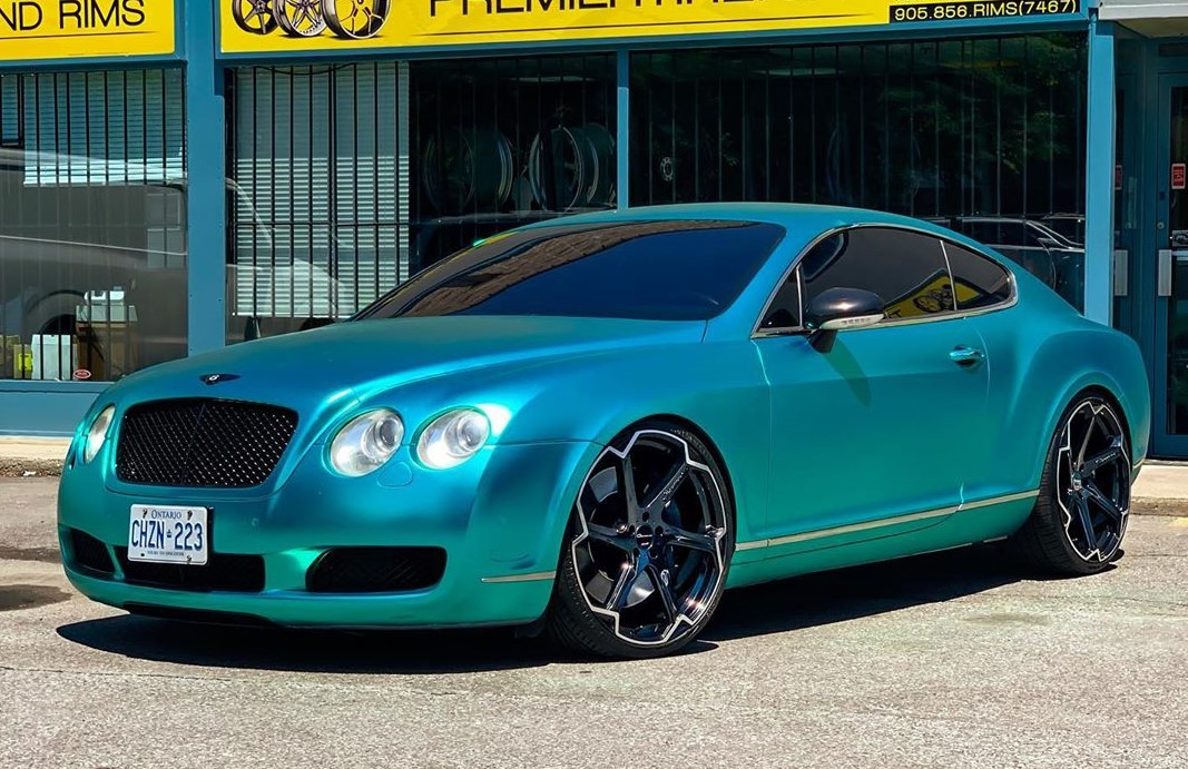 Giovanna Dalar X on Bentley Continental