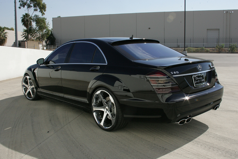 Giovanna Dalar-5 Chrome on Mercedes S65 AMG