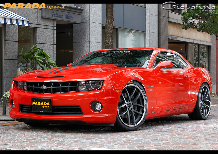 Giovanna Monza Black on Red Chevrolet Camaro SS RS