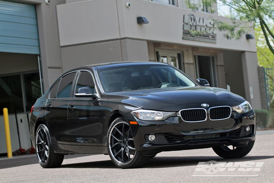Giovanna Monza Black with Machined Lip on BMW 3 Series