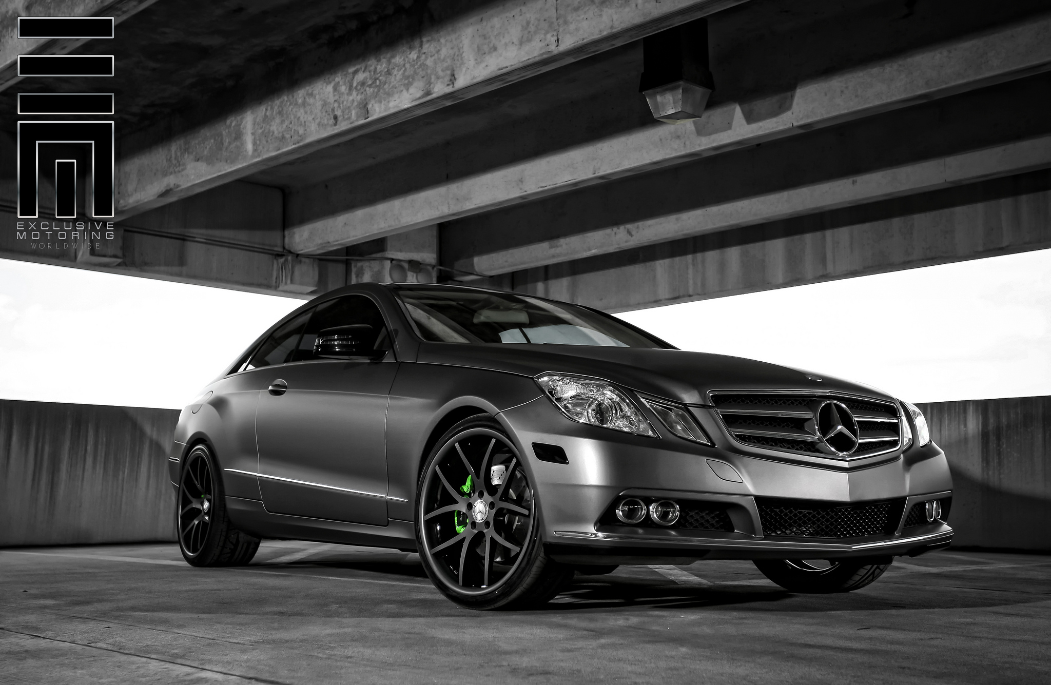 Giovanna Monza Graphite Grey on Mercedes Benz E-class Coupe