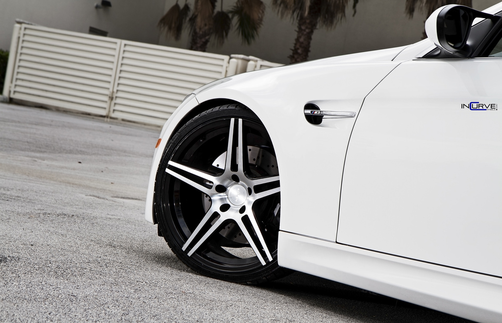 Incurve Wheels IC-S5 Machined Black on BMW M3 E93