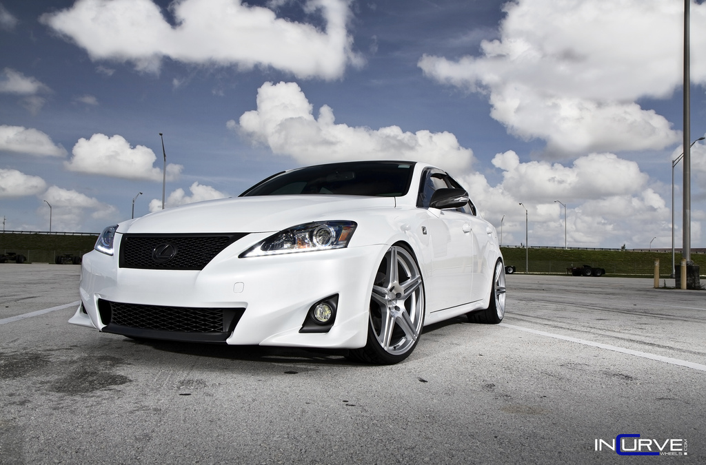 Incurve Wheels IC-S5 Silver On Lexus IS-F