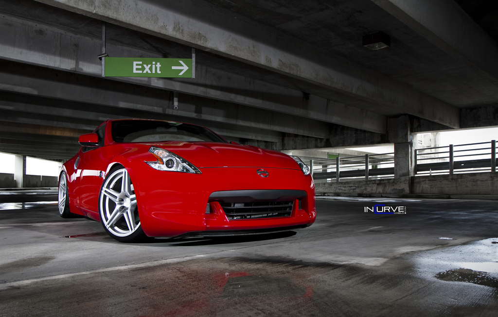 Incurve Wheels IC-S5 Silver on Nissan 370Z