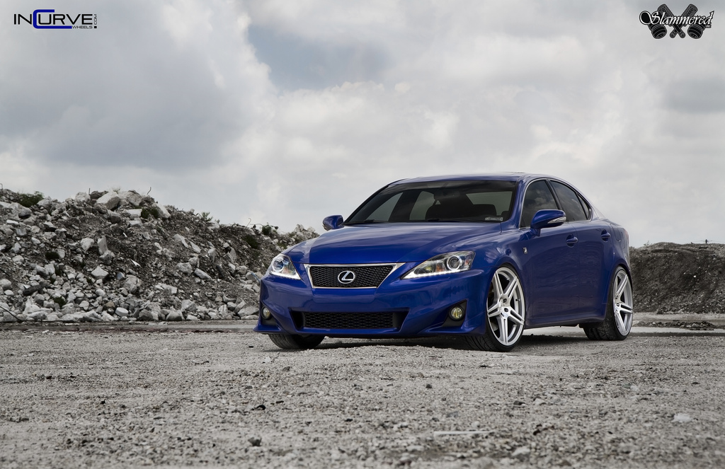 Incurve Wheels IC-S5 on Blue Lexus IS-F