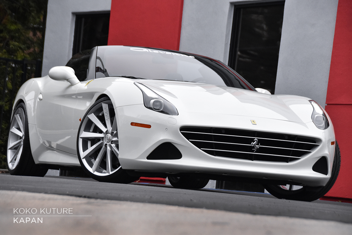 Koko Kuture Kapan Silver on Ferrari California