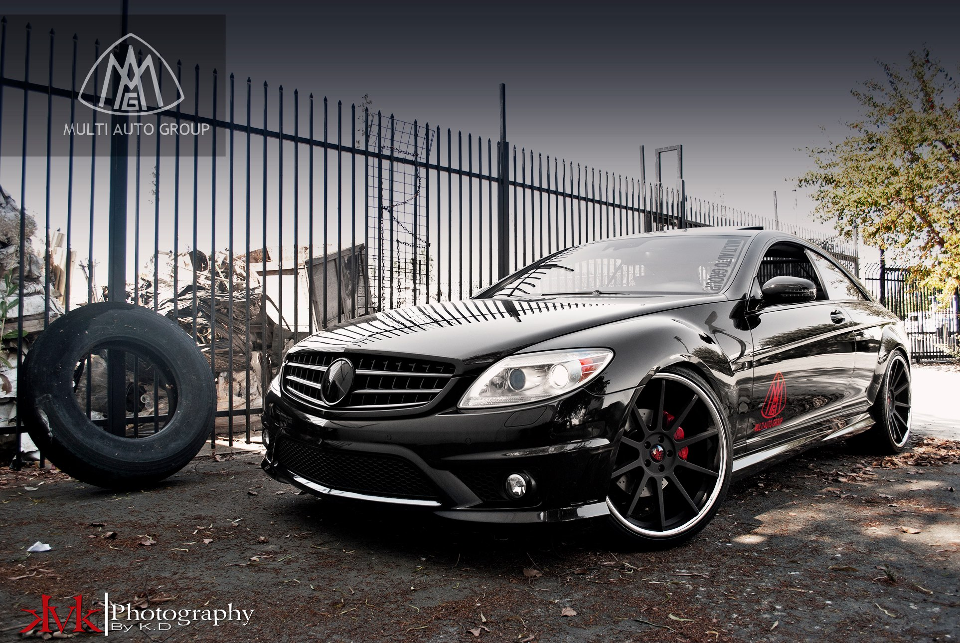 Koko Kuture Lindos Black on Mercedes Benz CL Class