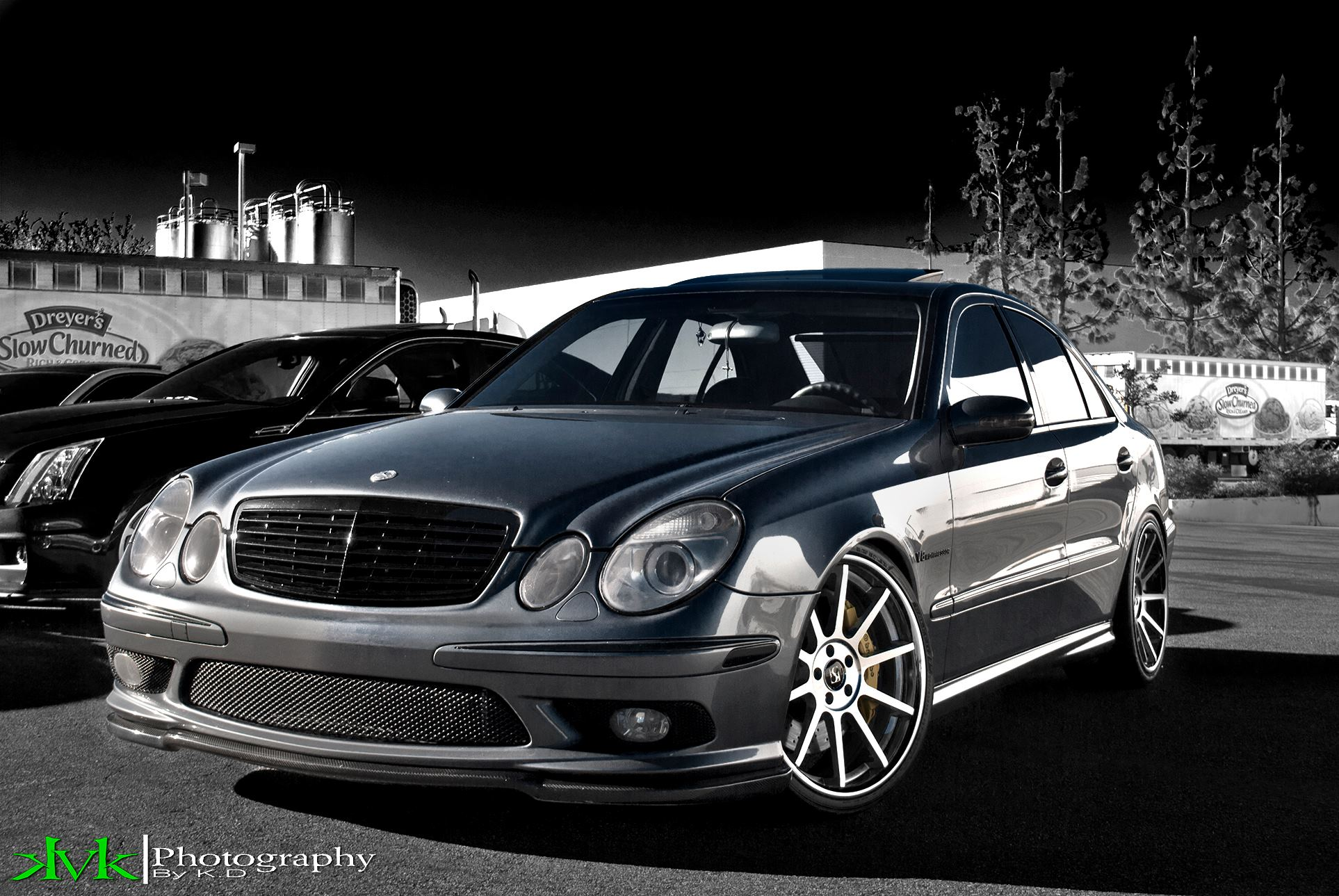 Koko Kuture Lindos Machined Black on Mercedes Benz E63 AMG