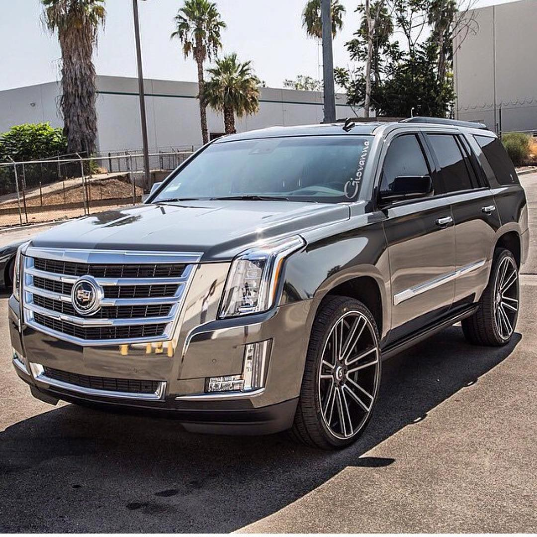 Koko Kuture Massa 7 Machined Black on Cadillac Escalade