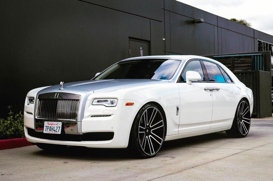 Koko Kuture Massa 7 Machined Black on Rolls Royce Ghost