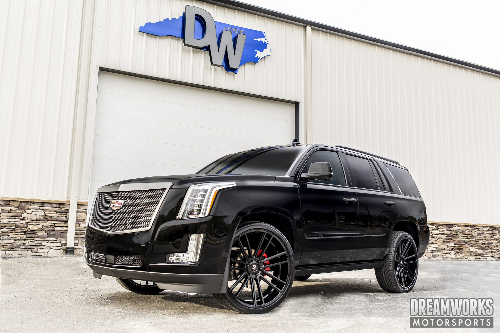 Koko Kuture Massa-7 Black on Cadillac Escalade