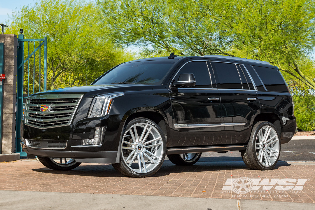 Koko Kuture Massa-7 Silver on Cadillac Escalade