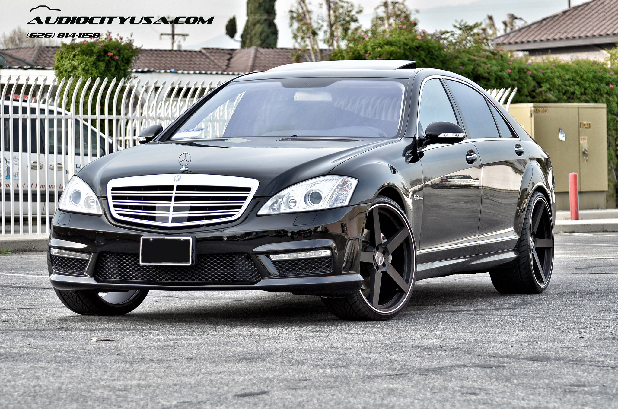 Koko Kuture Sardinia-5 r22  Matte black on 2008 Mercedes Benz S 63 AMG