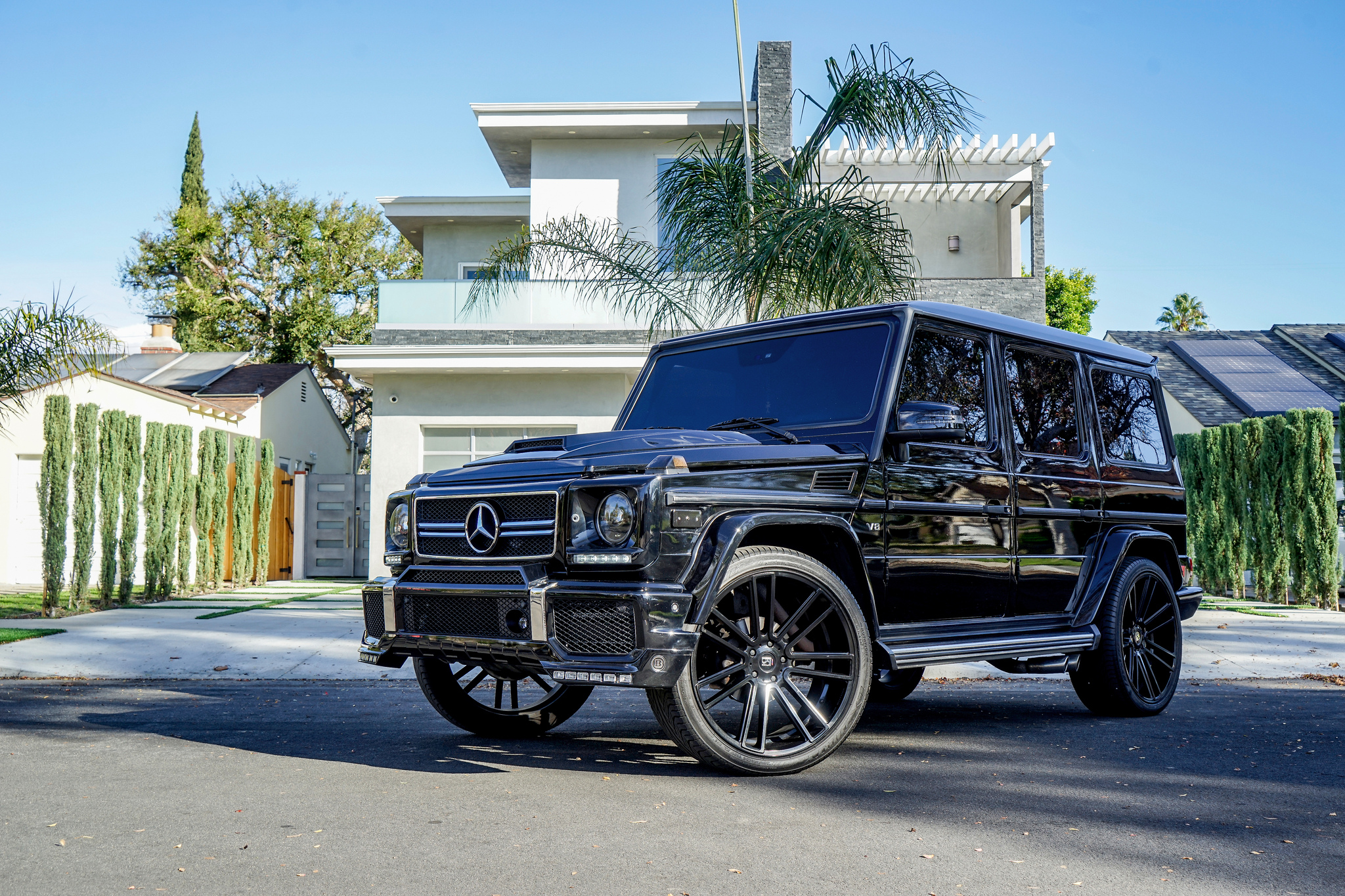 Koko Kuture wheels Massa 7 Black on Mercedes G