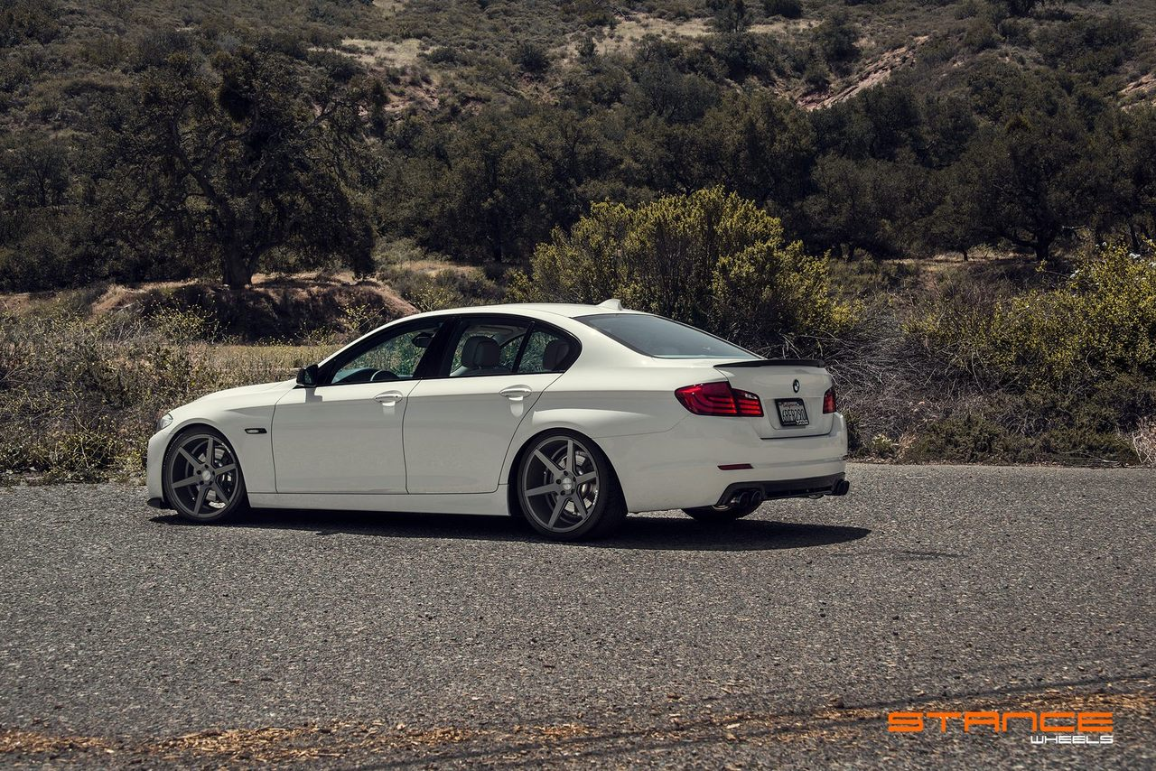Stance Wheels SC-5 Slate Grey on BMW 5 series F10