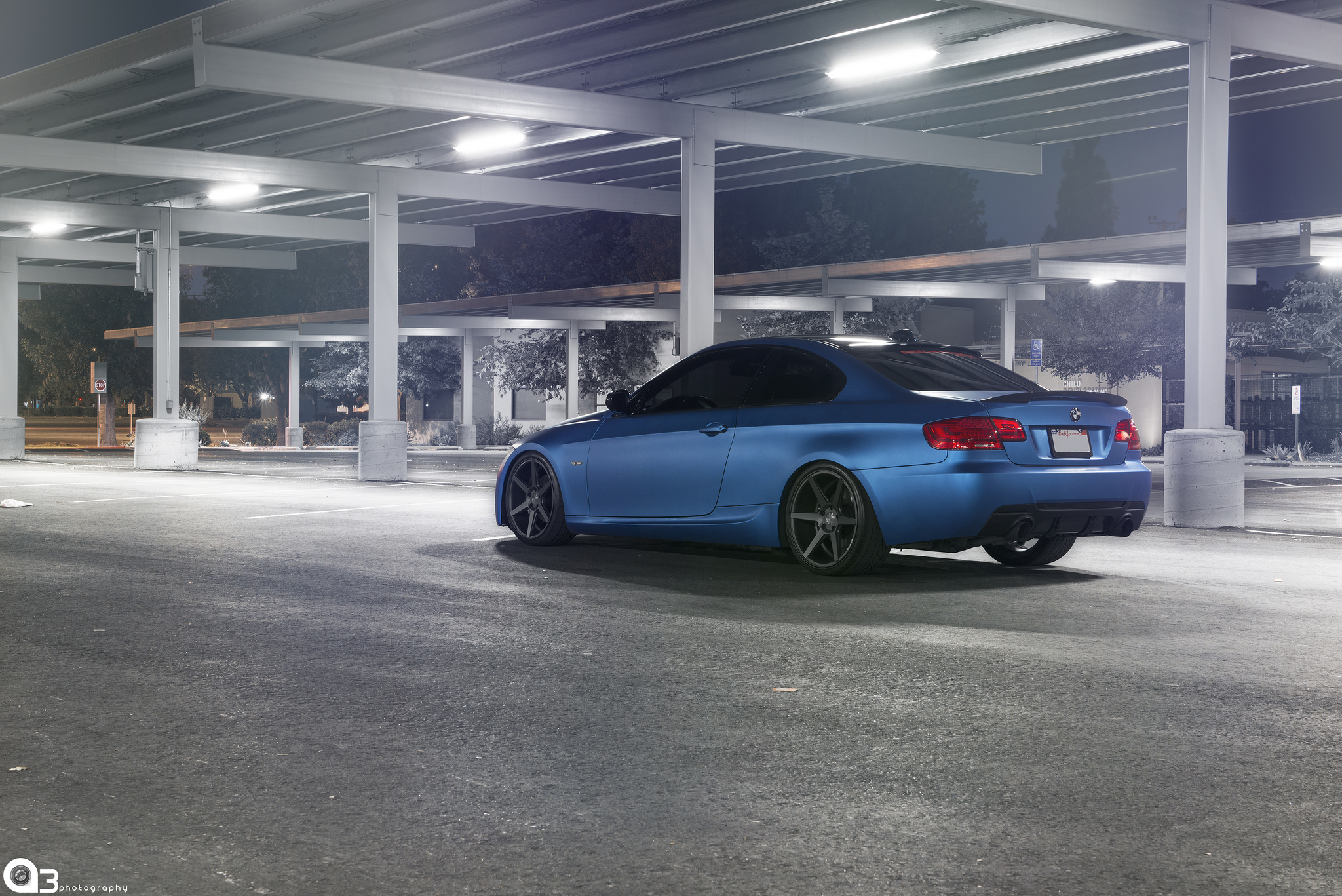 Stance Wheels SС-6 Slate Grey on Matte Blue BMW M3
