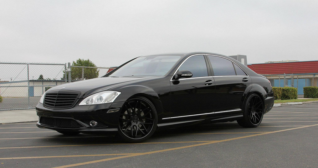 Vertini Concave Magic Matte Black on Mercedes-Benz S Class