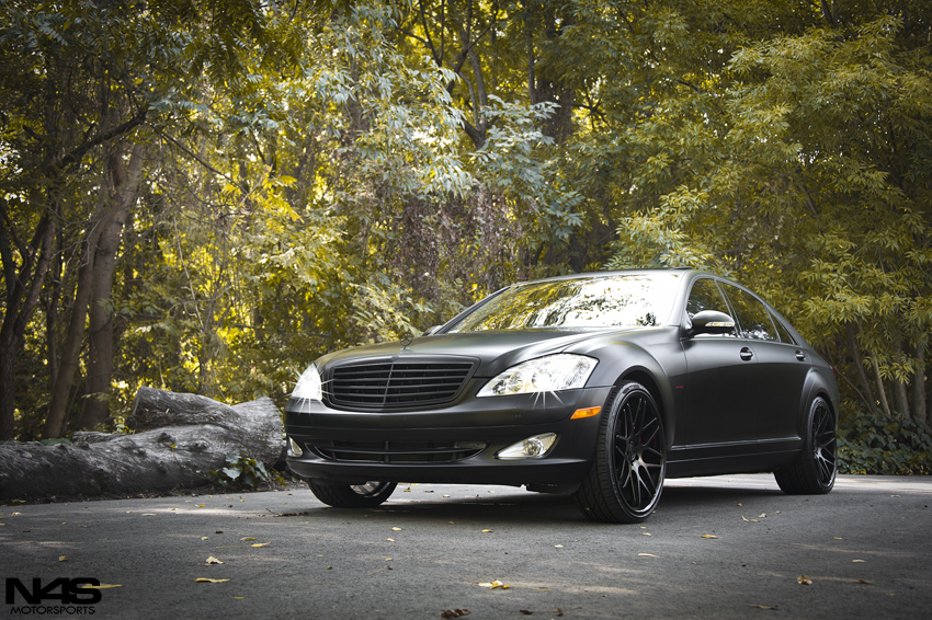Vertini Concave Magic 22'' Matte Black on Mercedes Benz S Class