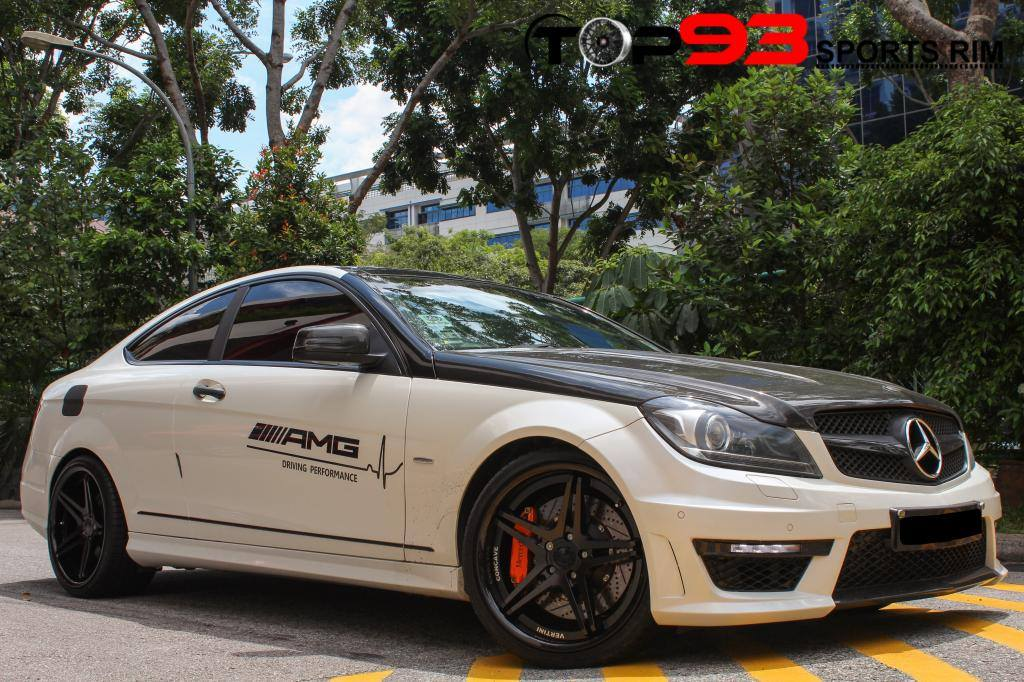 Vertini Monaco Matte Black on Mercedes Benz C63 AMG
