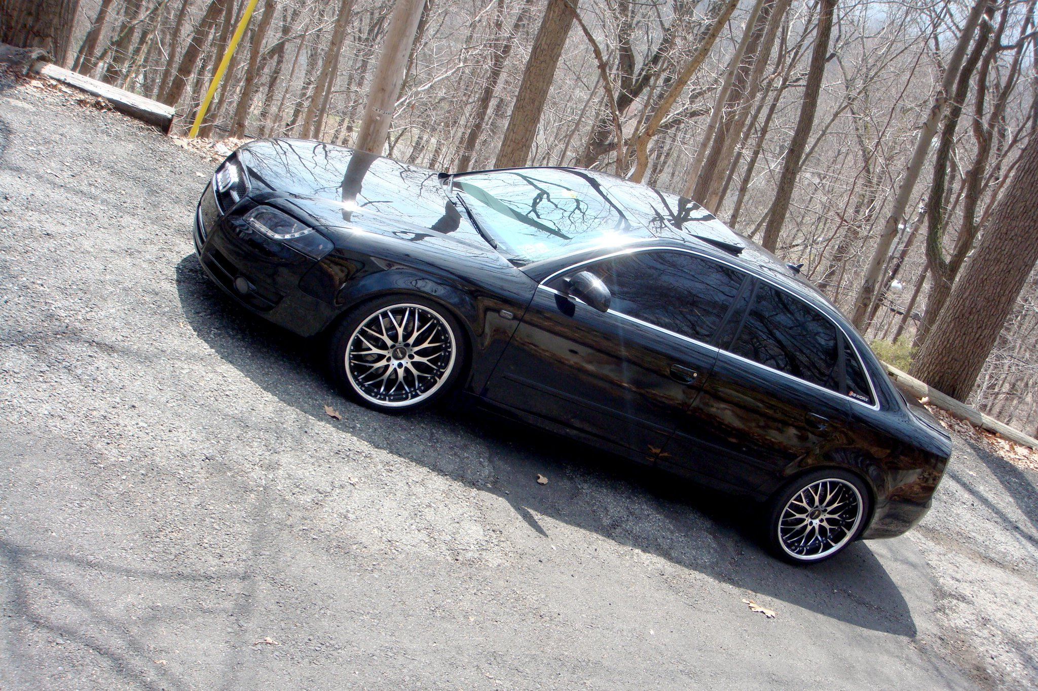 Vertini Riviera-S Machined Black on Audi A4